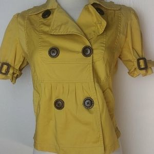American Rag Yellow Short Sleeves Jacket